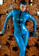Blue Catsuit with Mask