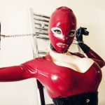 Wrapped Slave and Latex Dominatrix